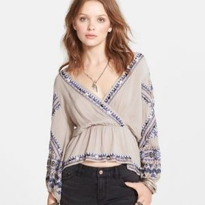 Free people stitch up your heart embellished top